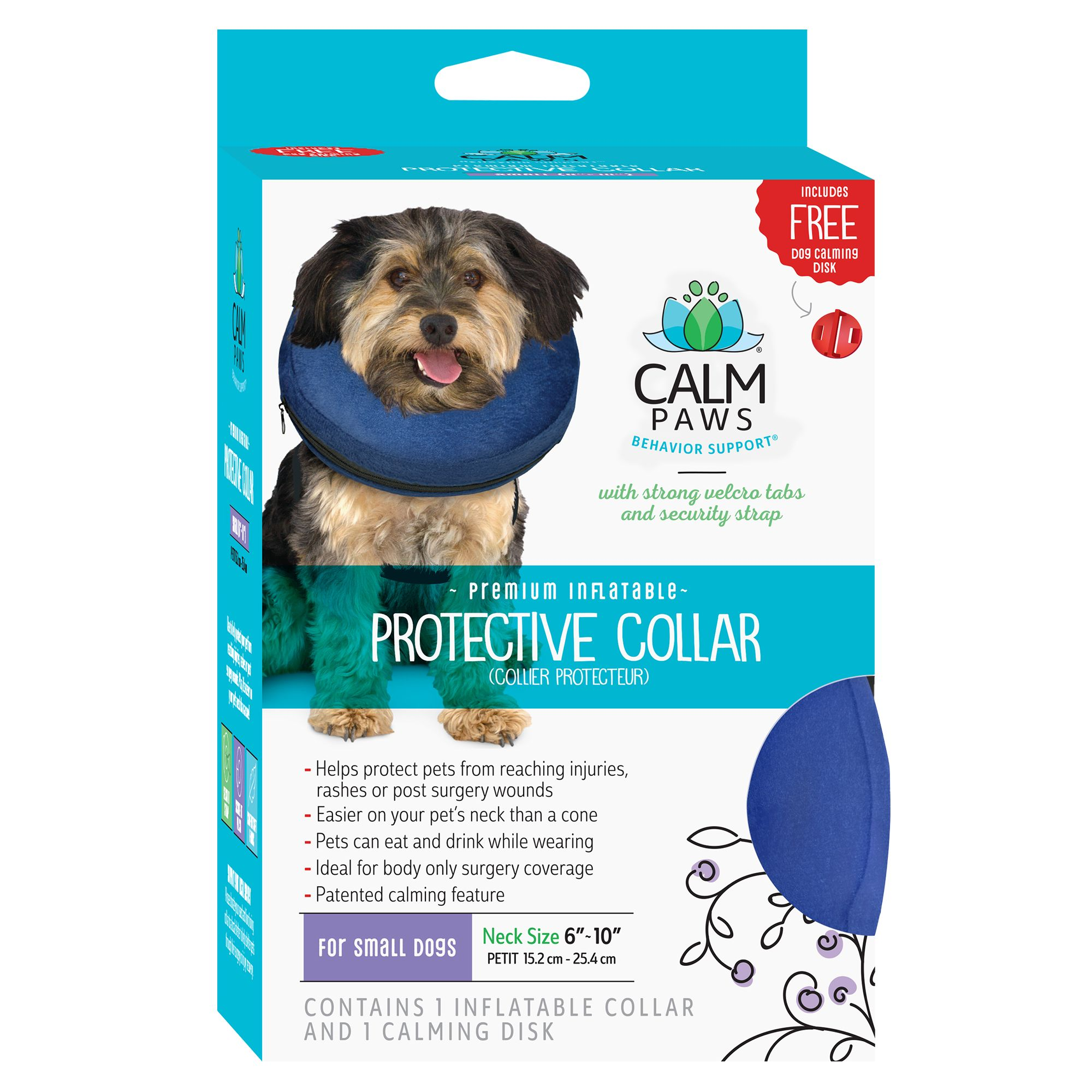 Calm Paws Behavior Support Trade Protective Inflatable Pet Collar Dog Training Collars Leashes Harnesses Petsmart