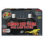 Zoo Med™ Combo Deep Dome Reptile Dual Lamp Fixture