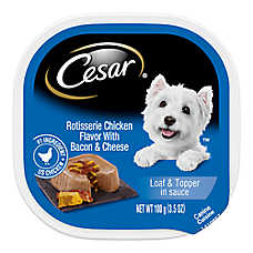 sale 10/$9 select Cesar® dog food, 3.5 oz. cans
