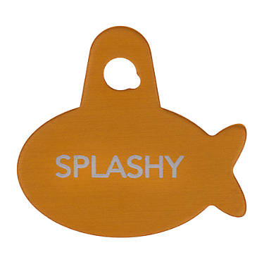 tagworks sport collection gold fish personalized pet id tag dog