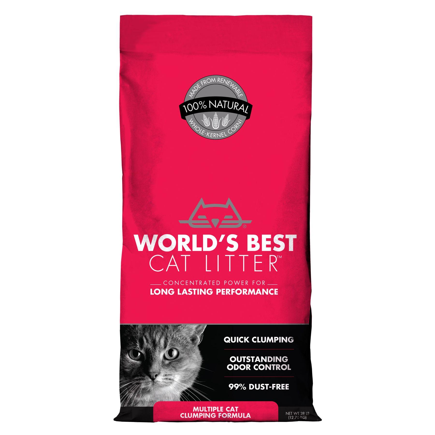 World's Best Cat Litter - Clumping, Multiple Cat