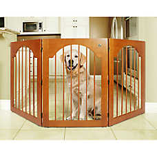 Majestic Pet Freestanding Wood Pet Gate