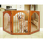 Majestic Pet Freestanding Wood Pet Gate
