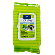 Top Paw® Soap-Free Dog Paw Wipes - Powder Fresh