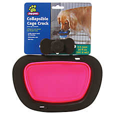 Top Paw® Collapsible Cage Crock Kennel Pet Bowl