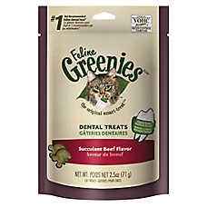 Feline GREENIES® Dental Cat Treat - Succulent Beef