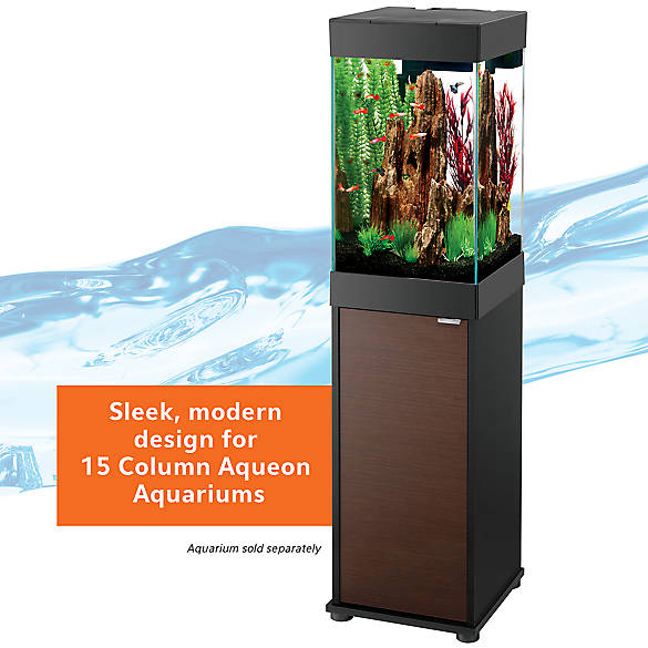 Aqueon 15 gallon column aquarium stand fish aquarium for Petsmart fish tank stand