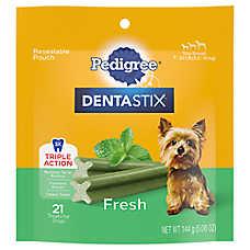 PEDIGREE® DENTASTIX® Triple Action Small Dog Treat - Fresh