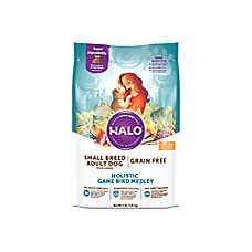 HALO® DreamCoat Small Breed Dog Food - Natural, Grain Free, Holistic Game Bird Medley