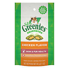 Feline GREENIES® SmartBites Healthy Skin & Fur Cat Treat - Chicken