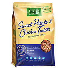 VitaLife Sweet Potato & ChickenTwists Dog Treat - Natural, Gluten Free