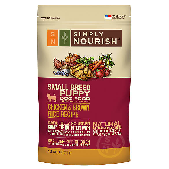 Simply Nourish™ Small Breed Puppy Food - Natural, Chicken ...