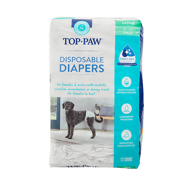 Top Paw Disposable Dog Diapers 12 Pack