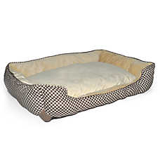 K&H Self-Warming Checker Lounge Sleeper Pet Bed