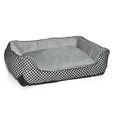 K&H Self-Warming Checker Lounge Sleeper Pet Bed