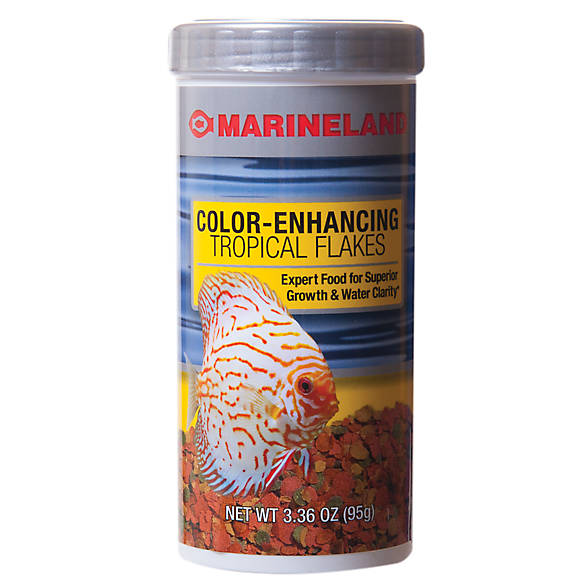 Marineland color enhancing tropical flakes fish food for Purina tropical fish food