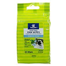 Top Paw® Soap-Free Dog Paw Wipes - Powder Fresh