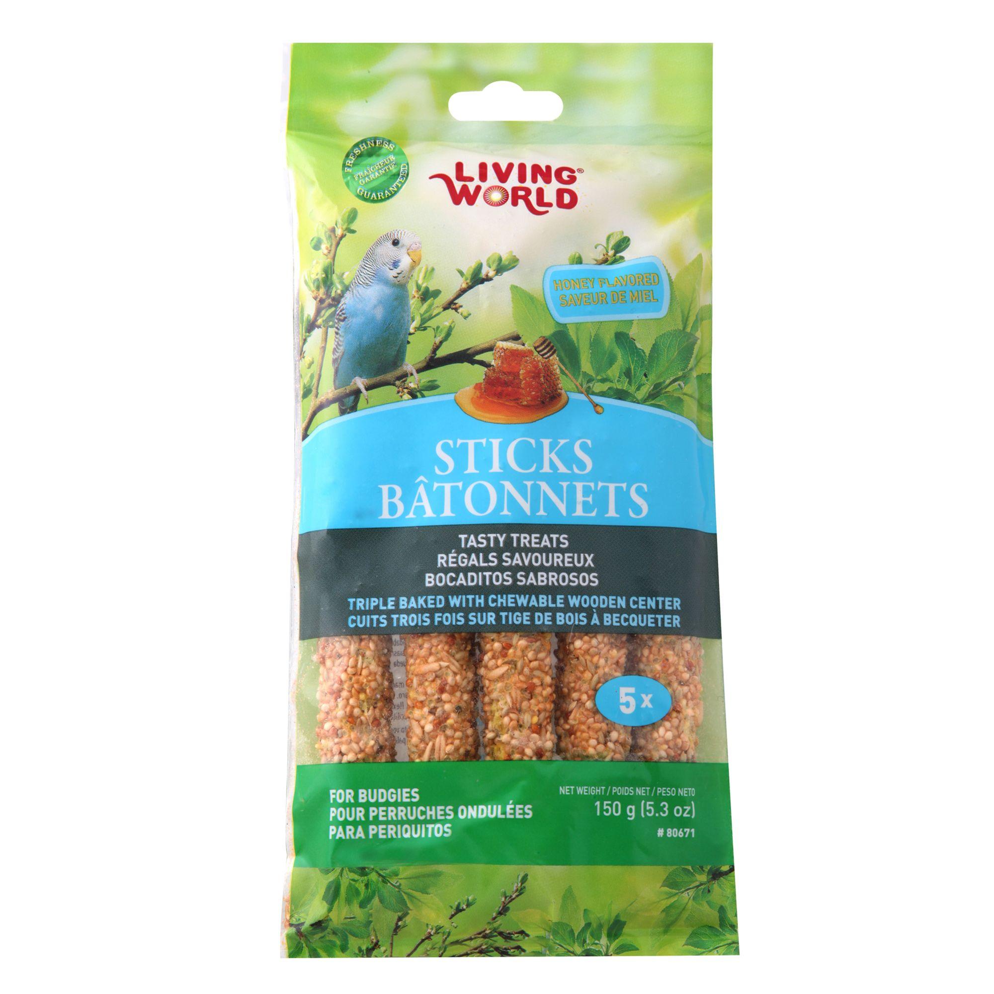 Living World® Honey Sticks Parakeet Treat