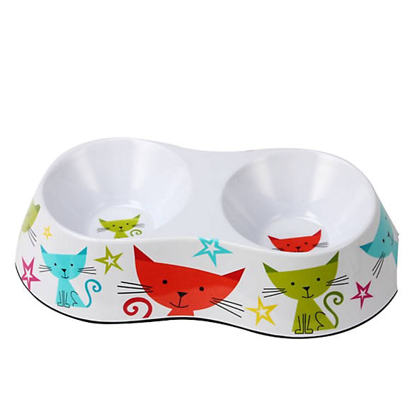 Whisker city double cat bowl cat food water bowls for Fish bowl petsmart