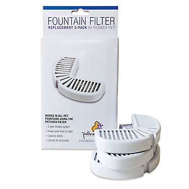 3 Pack Pioneer Pet Replacement Filters For Ceramic And Stainless Steel Fountains Cat Supplies