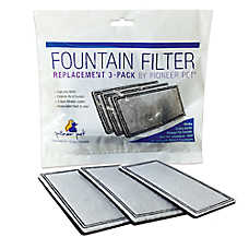 Pioneer Pet® Raindrop™ & Fung Shui™ Plastic Pet Fountain Replacement Filters - 3 Pack