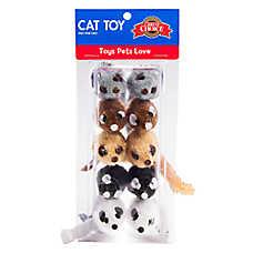 Grreat Choice® Short Hair Safari Mice Value Pack Cat Toy