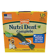 Nylabone Nutri Dent Complete Mini Dental Dog Chews - Natural, Chicken