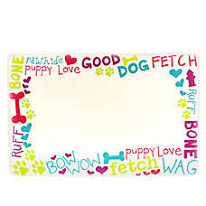 Grreat Choice® Words Pet Feeding Placemat