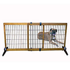 Top Paw® Adjustable Wood Pet Gate
