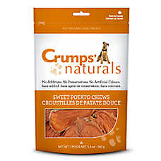 Crumps Naturals Sweet Potato Chews Dog Treat - Natural