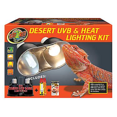 Zoo Med Desert Uvb Amp Heat Lighting Kit Reptile Light
