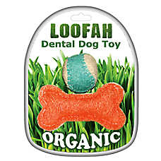 Hip Doggie Loofah Dental Set Dog Toy