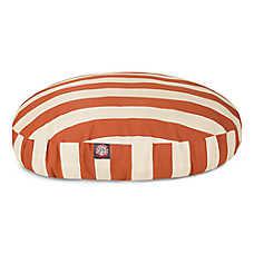 Majestic Pet Vertical Strip Round Pet Bed