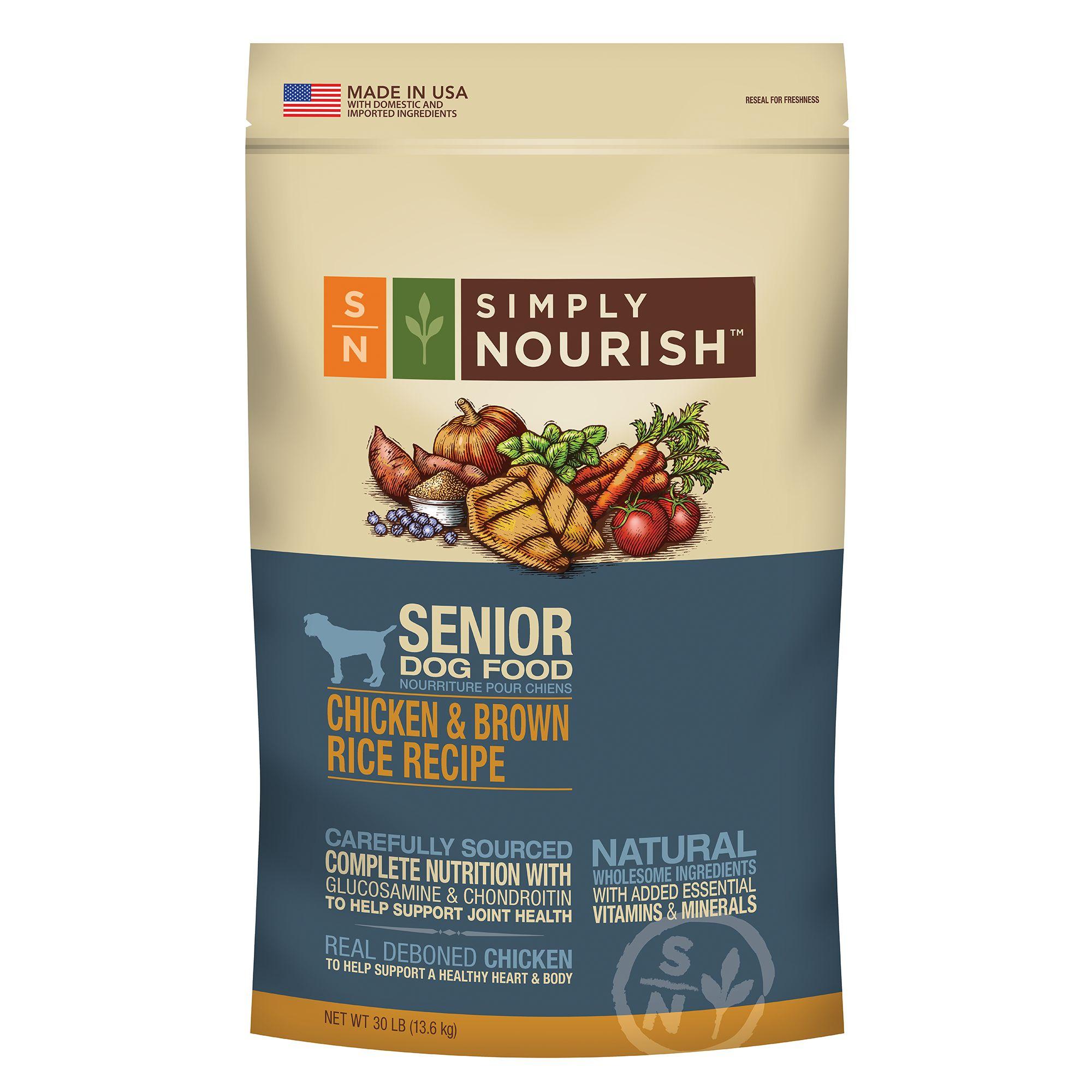 Senior Dog Food >> Simply Nourish Senior Dog Food Natural Chicken Brown Rice