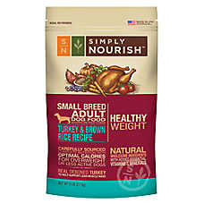 Simply Nourish™ Healthy Weight Small Breed Adult Dog Food - Natural, Turkey & Brown Rice