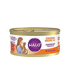 HALO® Indoor Cat Food - Natural, Grain Free, Chicken Recipe Pate