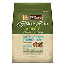 Simply Nourish™ Adult Dog Food - Grain Free, Natural, Chicken with Peas & Potatoes