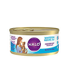 HALO® Indoor Cat Food - Natural, Grain Free, Whitefish Recipe Pate