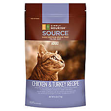 Simply Nourish™ SOURCE Adult Cat Food - Natural, Grain Free, Chicken & Turkey