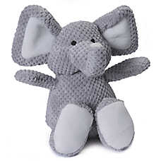 goDog® Checkers™ Elephant Dog Toy - Plush, Squeaker