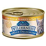 BLUE Wilderness® Wild Delights™ Flaked Adult Cat Food - Grain Free, Chicken & Turkey