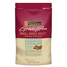 Simply Nourish™Grain Free Small Breed Adult Dog Food - Natural, Chicken with Peas & Potatoes