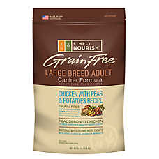 Simply Nourish™ Grain Free Large Breed Adult Dog Food - Natural, Chicken with Peas & Potatoes