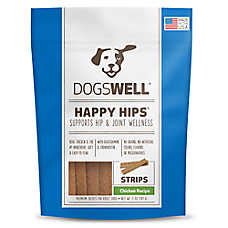 DOGSWELL® HAPPY HIPS® Dog Treat - Grain Free, Hip & Joint Health, Chicken Strips