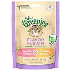 Feline GREENIES® Flavor Fusion Dental Cat Treat - Savory Salmon & Oven Roasted Chicken
