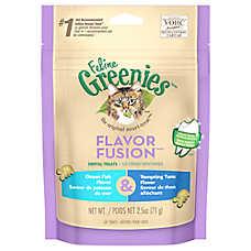 Feline GREENIES® Flavor Fusion Dental Cat Treat - Ocean Fish & Tempting Tuna