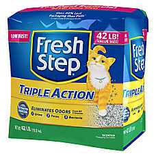 Fresh Step® Triple Action Cat Litter - Clumping, Scented