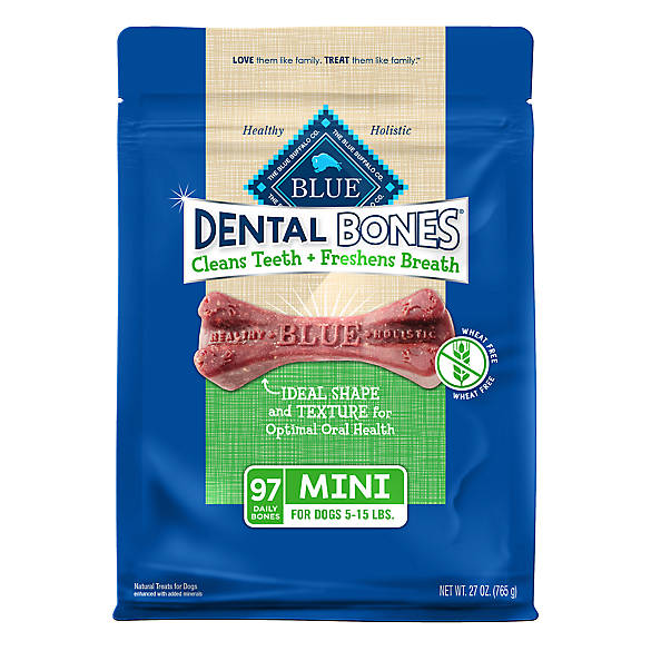 Blue dental bones mini dog treat natural dog dental for Blue fish dental