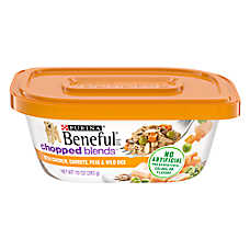 Purina® Beneful® Chopped Blends Dog Food - Chicken, Carrots, Peas & Wild Rice