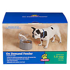 Top paw on demand dog feeder dog automatic feeders for Automatic fish feeder petsmart